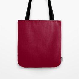 Burgundy Solid Color Tote Bag