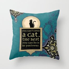 You Can't Own a Cat Throw Pillow
