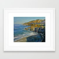 big sur Framed Art Prints featuring Big Sur by Michael Creese