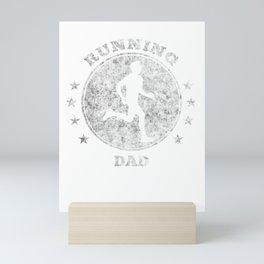 Running Dad I Daddy Jogging for Men Marathon Gift Mini Art Print