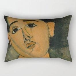 Amedeo Modigliani - Portrait of Juan Gris Rectangular Pillow