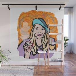 Joni Mitchell portrait Wall Mural