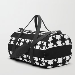 Festive Winter Snow flakes Duffle Bag