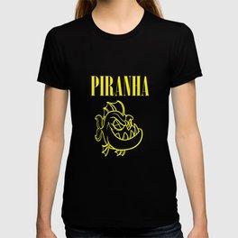 funny piranha nirvana parody logo T-shirt