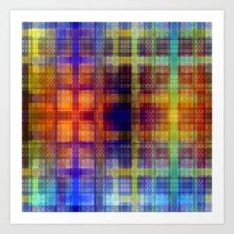 Pattern multicolored 27 Art Print