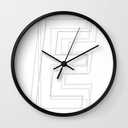 Intertwined Strength and Elegance of the Letter E Wall Clock