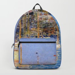 Newport Harbor, Newport, Rhode Island - Cat Boats by Frederick Childe Hassam Backpack