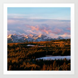 Sunrise in the Rockies Art Print