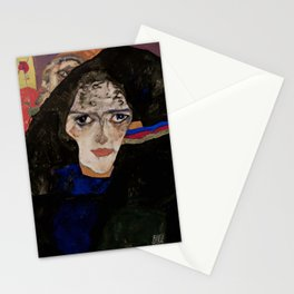 """Egon Schiele """"Mourning Woman"""" Stationery Cards"""