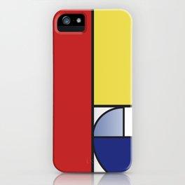 Mondrian vs Fibonacci iPhone Case