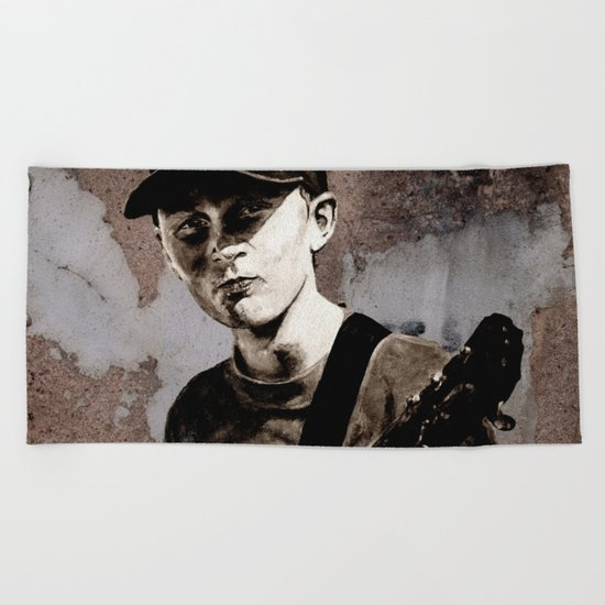 GUITAR BOY - urban ART Beach Towel