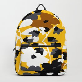 SUNFLOWER TOILE YELLOW GOLD BLACK GRAY AND WHITE Backpack