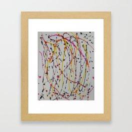 Abstract Splatter Framed Art Print
