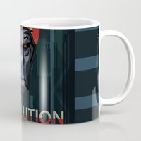 planet of the apes Mugs featuring Dawn of the Apes by milanova