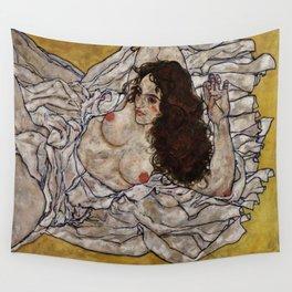 "Egon Schiele ""Reclining Woman"" Wall Tapestry"