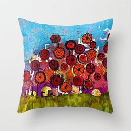 Bloomin Chaos Throw Pillow