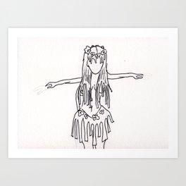 hula hula Art Print