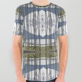 CRESCENT BEACH ON ORCAS ISLAND All Over Graphic Tee
