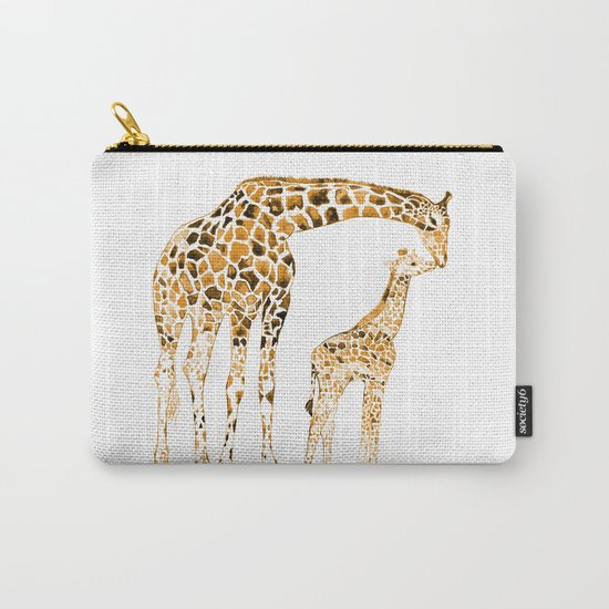 family girrafes, watercolor Carry-All Pouch