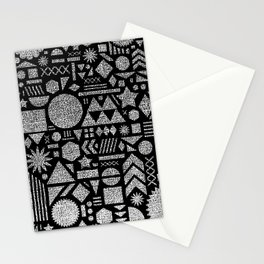 Modern Elements with Black. Stationery Cards