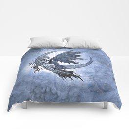 Steel Moon Blue Fairy Fantasy Art by Molly Harrison Comforters