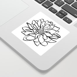 Flower (white) Sticker