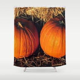Twin Vintage Pumpkins Shower Curtain