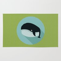 the whale Area & Throw Rugs featuring Whale by Mr & Mrs Quirynen