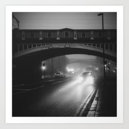 Misty early morning in Manchester Art Print