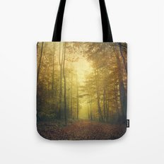 fall morning forest Tote Bag