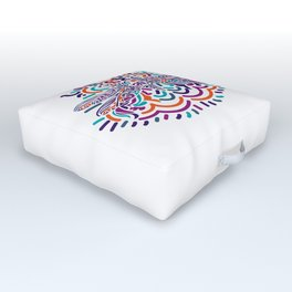 Colorful Fly Outdoor Floor Cushion