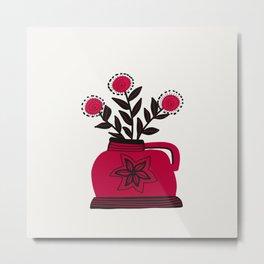 Floral vibes X Metal Print