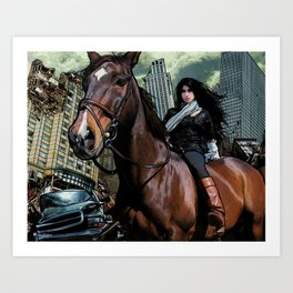 The Equestrian Art Print
