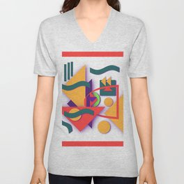 TRIANGLE GEOMETRICS Unisex V-Neck