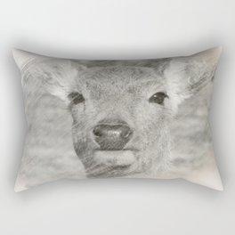 Charcoal baby deer Rectangular Pillow