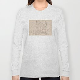 Vintage Map of Springfield MA (1891) Long Sleeve T-shirt