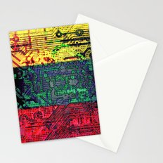 circuit board  lithuania (flag) Stationery Cards