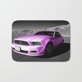 Pink Mustang  Bath Mat