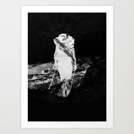 Black Hike Art Print