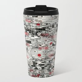 The Flaw Advantage (P/D3 Glitch Collage Studies) Metal Travel Mug