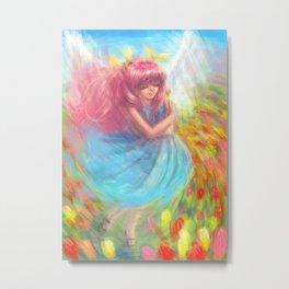 A dream of Spring Wedding Peach Metal Print