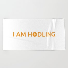 I am hodling Beach Towel