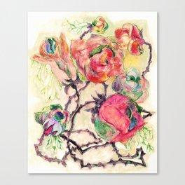 Spearmint Roses Canvas Print