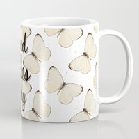 good vibes only Mugs featuring Good Vibes Only by Pati Designs