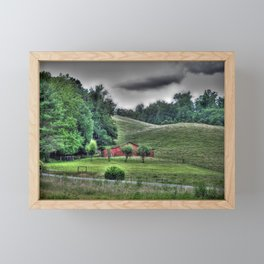 The Old Farm Framed Mini Art Print
