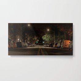 Night street, Brooklyn, New York (2020-5-GNY120) Metal Print