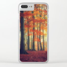 Dreamy Fall Reds Clear iPhone Case