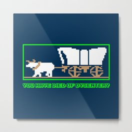 You Have Died of Dysentery - Funny Gaming Quote Gift Metal Print