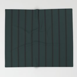 Minimal Triangles - Teal Throw Blanket