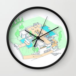house by tereza del pilar Wall Clock